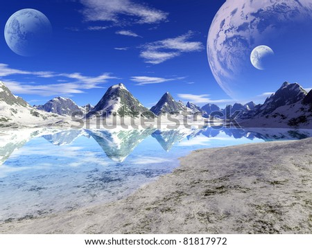 Fantastic landscape - stock photo