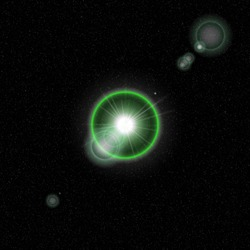 fantastic light phenomena in a distant solar system with an earth-like planet