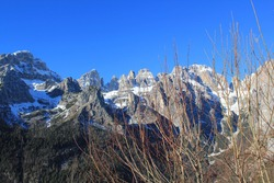 fantastic panorama of the alps in trentino