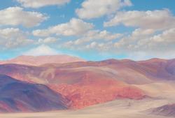 Fantastic Scenic landscapes of Northern Argentina. Beautiful inspiring natural landscapes.
