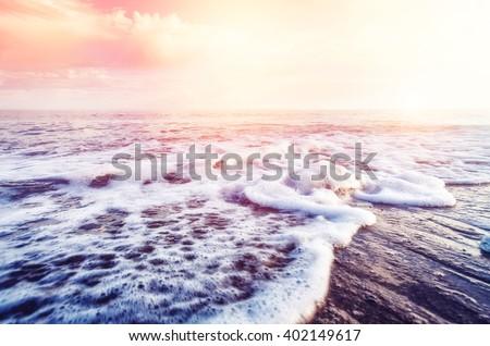 fantastic sea glowing by...