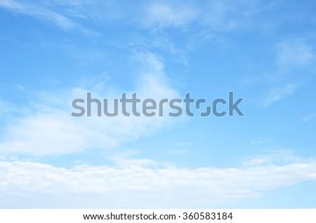 Fantastic soft white clouds against blue sky #360583184