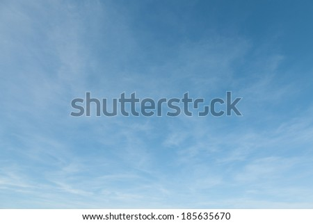 Fantastic soft white clouds against blue sky daylight. Natural composition of the sky. design element