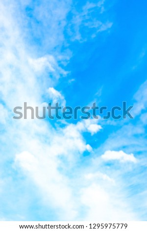 Fantastic soft white clouds against blue sky in thailand.. #1295975779