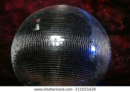 Fantastic space. Artistic background with disco-ball.