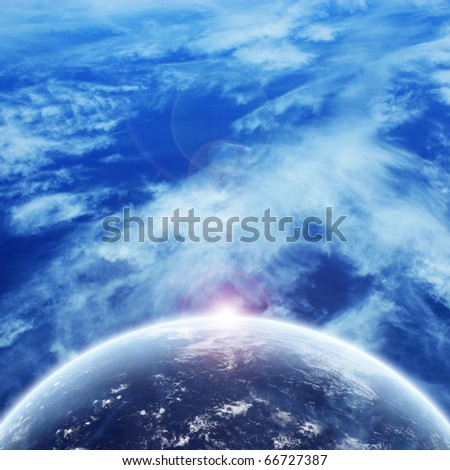 Fantastic Space Blue Background