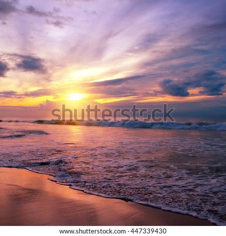 Fantastic sunrise on the ocean #447339430