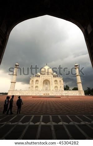 Fantastic view of Taj Mahal in Agra, india