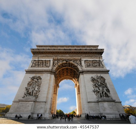 fantastic wiev of Arc de Triomphe/Paris - stock photo