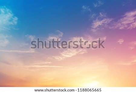 fantasy artistic cloud sky with pastel color filter, nature abstract background