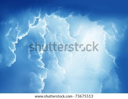 Fantasy beautiful clouds