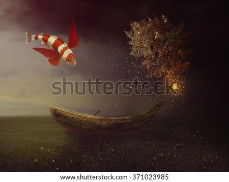 Fantasy Boat #371023985