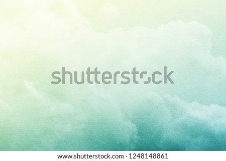 fantasy cloudy sky with pastel gradient color and grunge paper texture , nature abstract background                    #1248148861