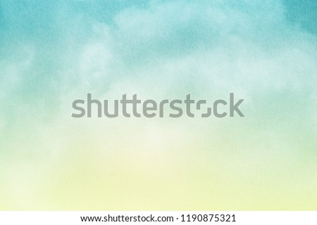 fantasy cloudy sky with pastel gradient color and grunge texture, nature abstract background           #1190875321