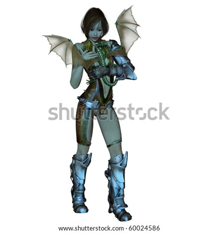 dragon age female armor. stock photo : fantasy female