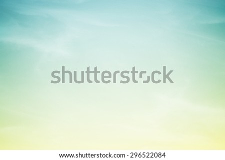 fantasy fluffy cloud and sky in gradient color abstract background with gradient color