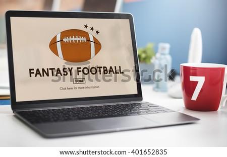 Fantasy Football Entertainment Game Play Sport Concept #401652835