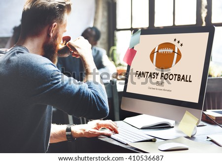 Fantasy Football Entertainment Game Play Sport Concept #410536687