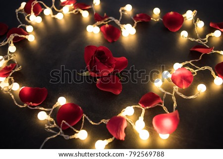 Free Photos Rose Petals In A Shape Of A Heart On Black Background