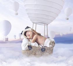 Fantasy image of a newborn child