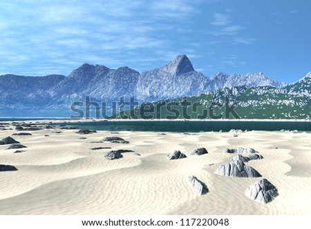 Fantasy Landscape At The Beach