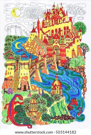 fantasy landscape. fairy tale...