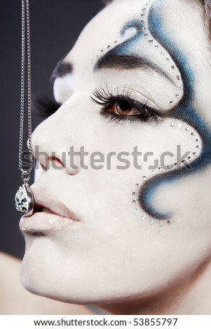 fantasy makeup images. stock photo : Fantasy makeup
