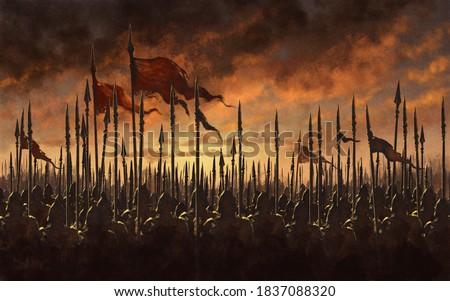 Fantasy medieval battle - digital illustration Сток-фото ©