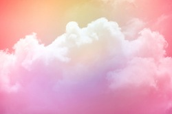 fantasy soft cloudy sky with pastel gradient color , nature abstract background