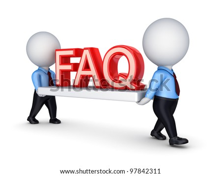 FAQ concept.Isolated on white background.3d rendered.