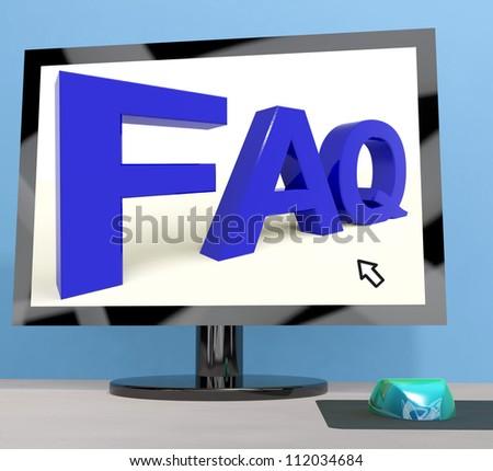 Faq On Computer Screen Showing Online Help