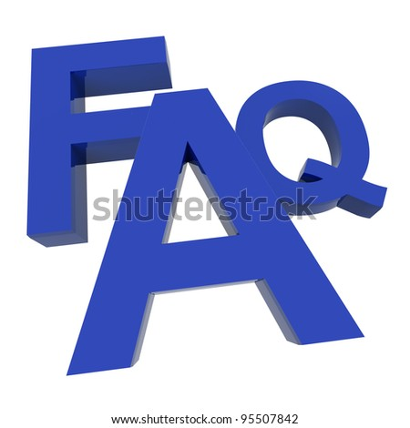 FAQ Word In Blue Showing Information Questions And Answers