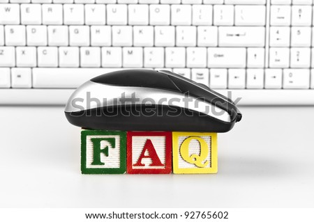 Faq word with mouse and keyboard