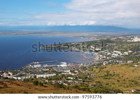 Far east, Russia, Avacha Bay, the city of Petropavlovsk-Kamchatsky