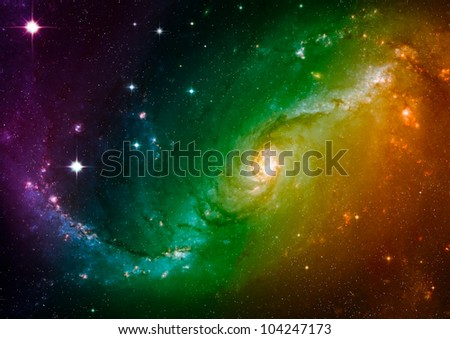 Far space color nebula as abstract background