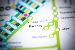 Faraday Station. Johannesburg Metro map.