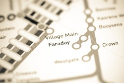 Faraday Station. Johannesburg Metro map.