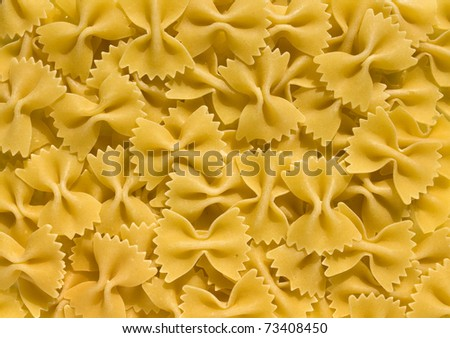 Farfalle - bow shaped pasta background