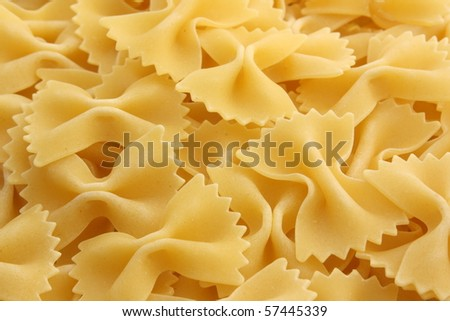 Farfalle Pasta shapes as a background