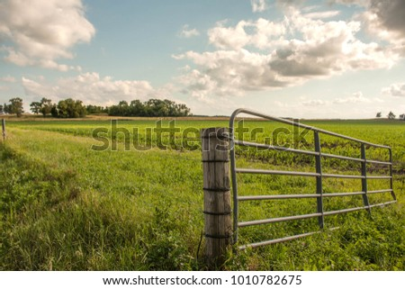 farm fence and pasture.