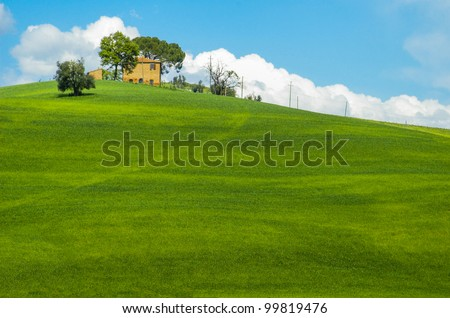 Farm house in the Tuscany region of Italy.