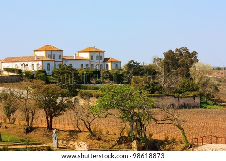 Farm house on the top of hill similar to tuscany vineyard