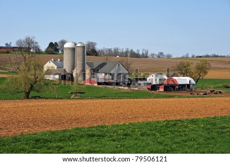 Farm in Amish country in eastern Pennsylvania