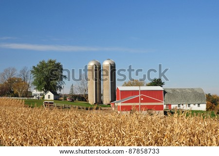farm in amish country, Wisconsin