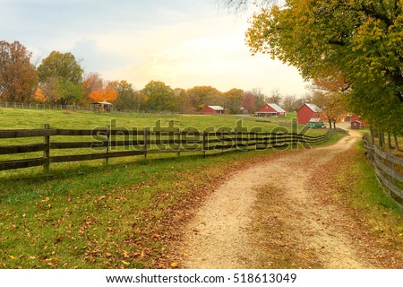 Farm in Autumn #518613049