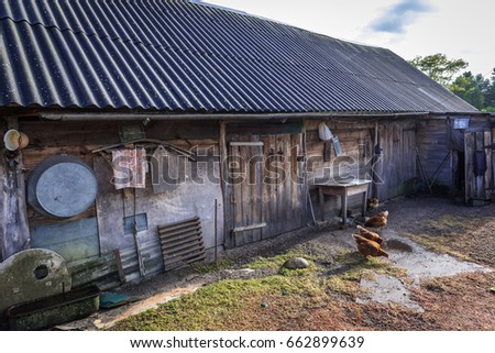 Farm in Kupovate settlement of so called Samosely - residents of Chernobyl Exclusion Zone, Ukraine #662899639