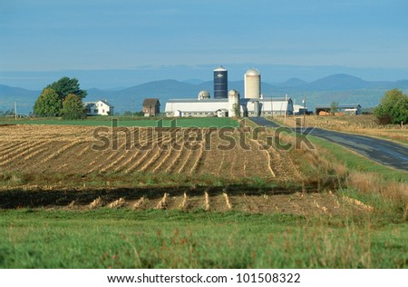 Farm in winter, Adirondacks, Vermont