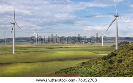 Farm of wind power station in Spain, High density range image