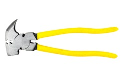 Farm Pliers yellow cable isolated in white background