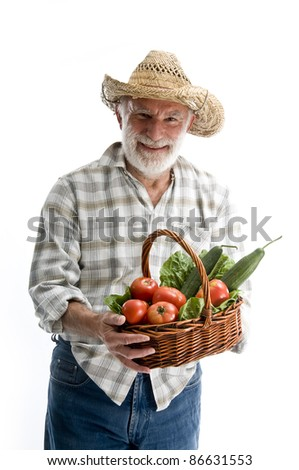 farmer man in studio